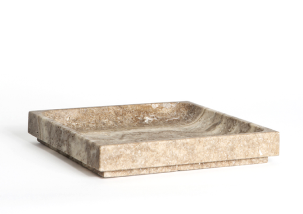 MICHAEL VERHEYDEN MEDIUM TRAY GREY TRAVERTINE
