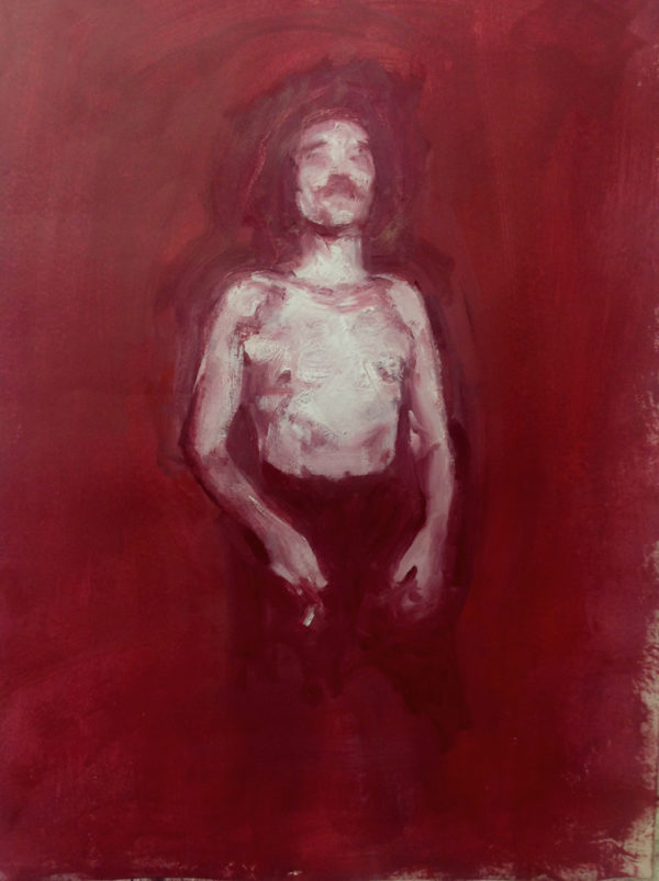 Red Man Painting by Tim Fawcett